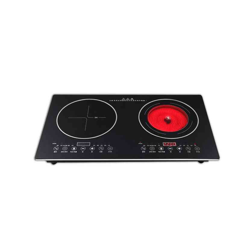 Double-burner, Electric Cook, Top Induction, Cooker Stove  (black)