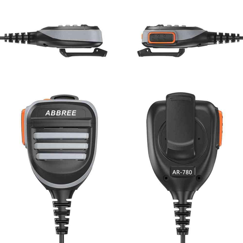 Ar-780, Ptt Rainproof, Shoulder Speaker Microphone, Two-way Radio