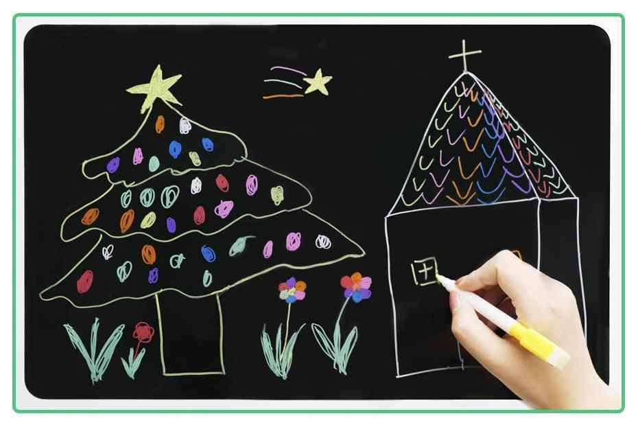 Magnetic Message Blackboard Sheet For Kitchen, Fridge, Sticker, Office, Calendar