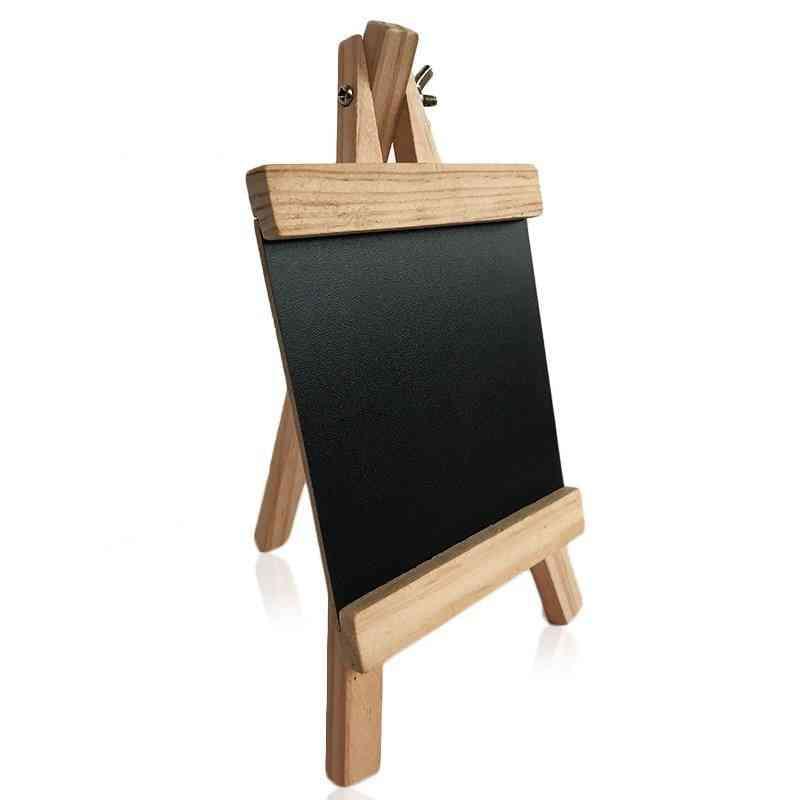 Mini Desktop Pine Wood Easel Blackboard, Chalkboard