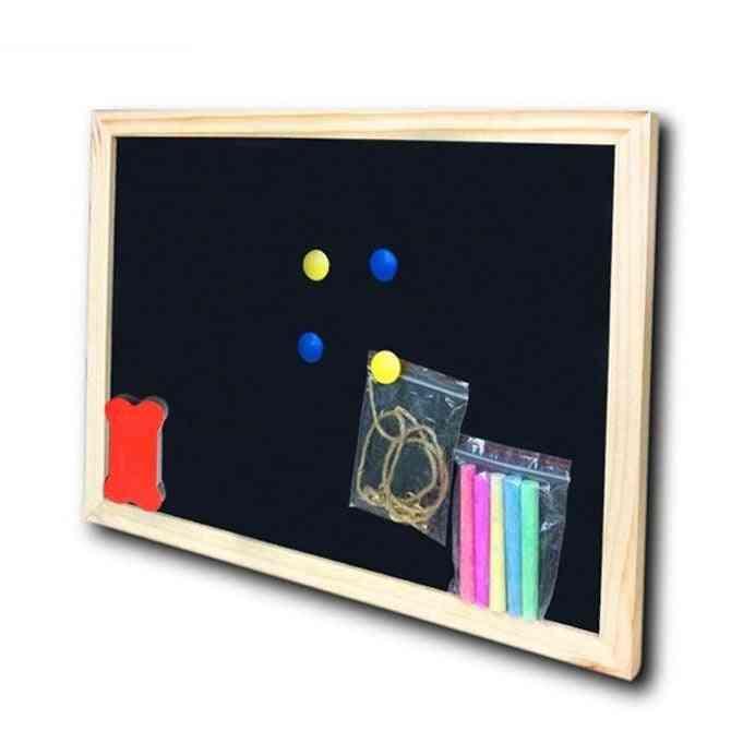 Dry Erase Magnetic Wooden Black, Chalk Board