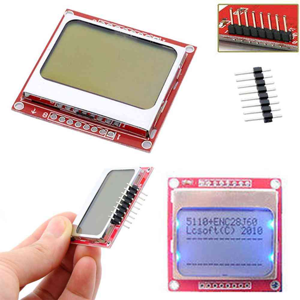 Smart Electronics, Lcd Module Display, Monitor White Backlight, Adapter Pcb Screen