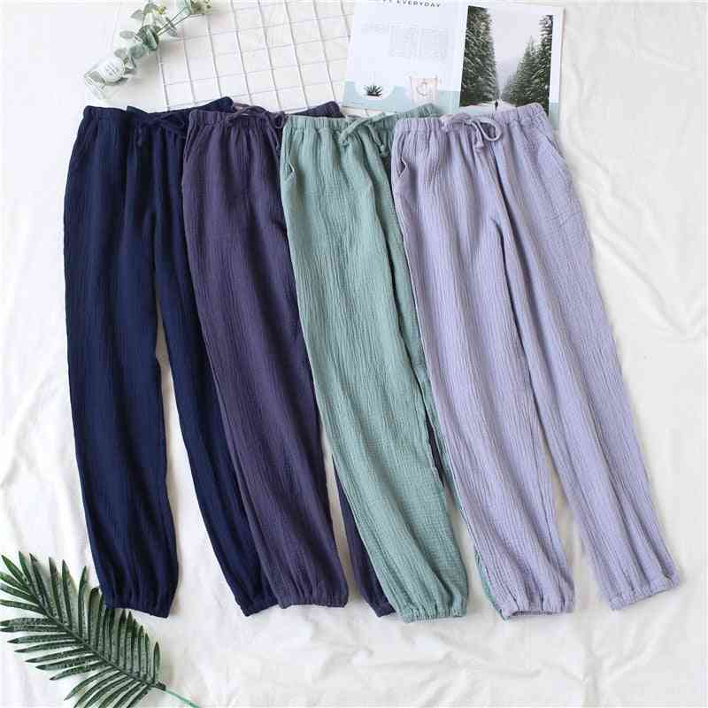 Japanese Pajamas, Men And Women Spring And Autumn Home Pants