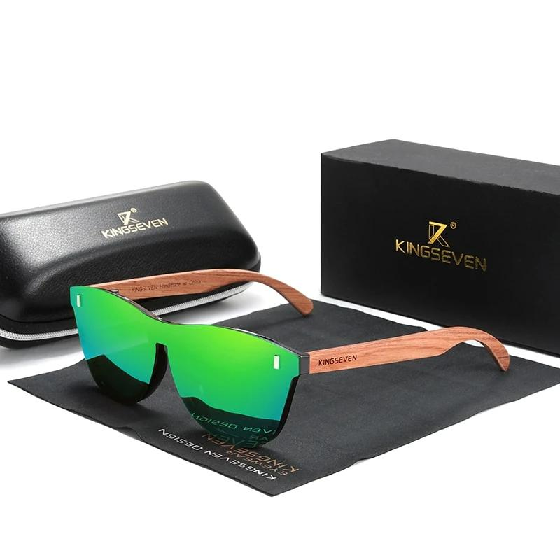 Natural Bubinga Wood Men Polarized Fashion Sunglasses
