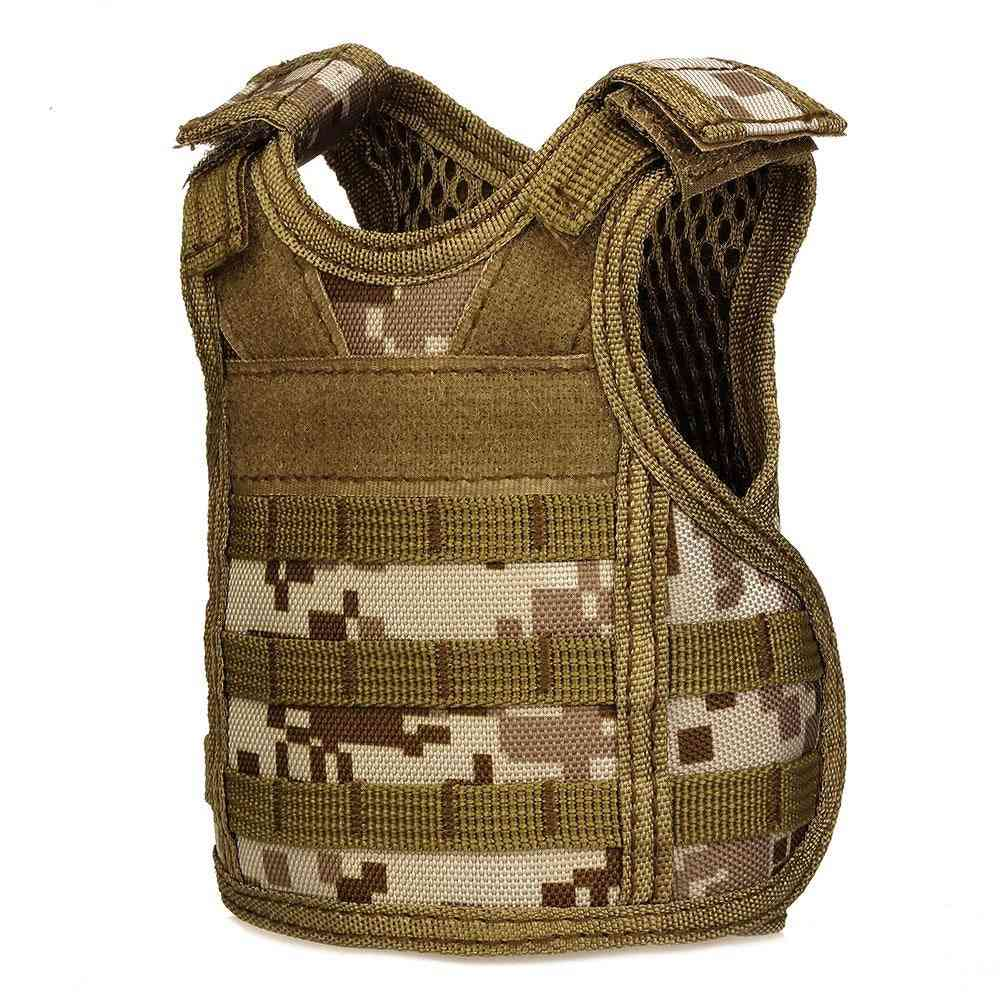 Tactical Premium Beer Military Molle, Mini Miniature Hunting Vests Adjustable Shoulder Straps