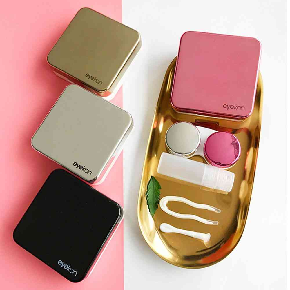 Contact Lens Case With Mirror Lovely Travel Kit Box