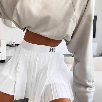 A-line High Waist Mini Tennis Casual Skirts