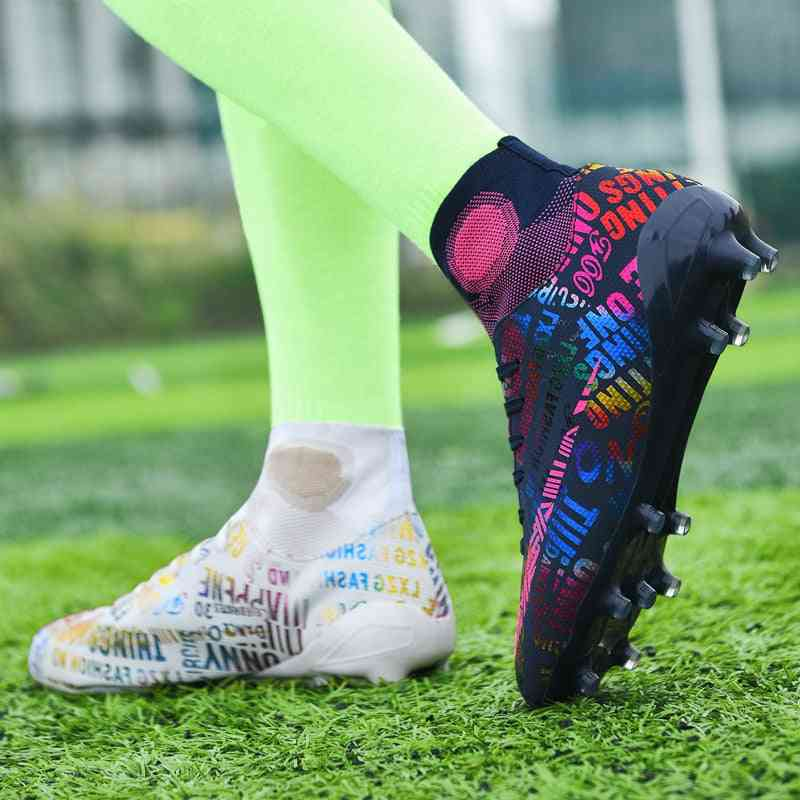 Breathable Outdoor High Football Boots