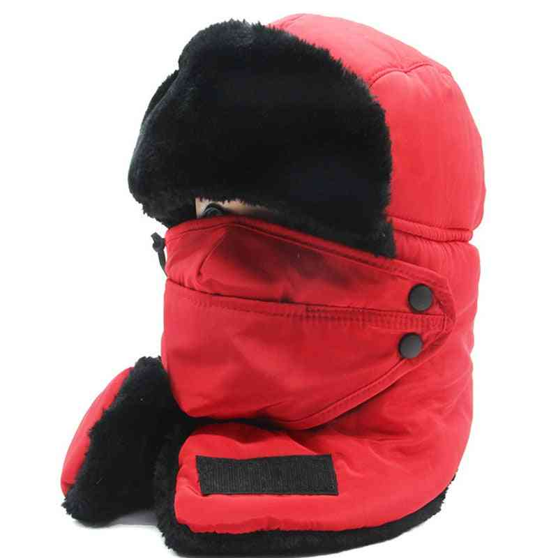 Winter Warm Windproof Mask With Scarf Hat