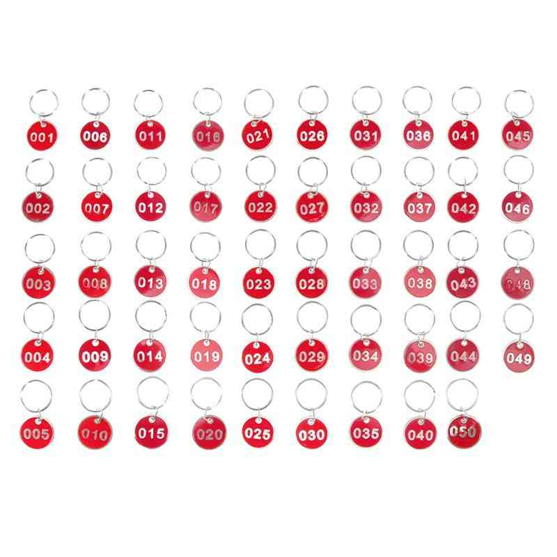 Practical Metal Numbers Plates, Luggage Id Tags, Key Ring Labels