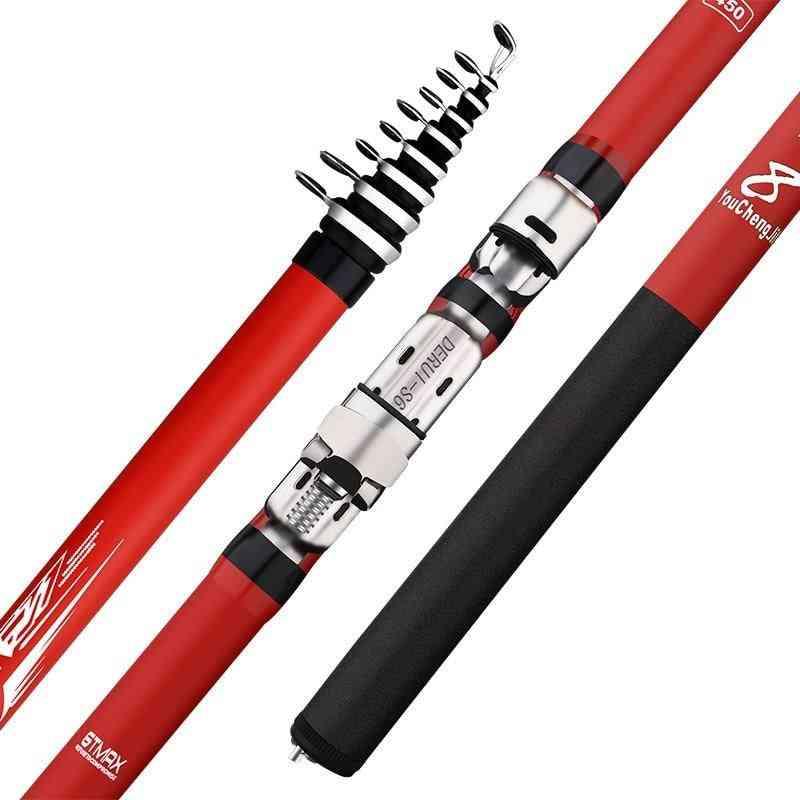 Portable Rotary Tough Carbon Fiber Fishing Rod