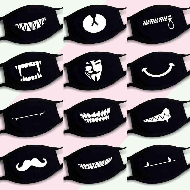 Dustproof Mouth Mask, Pop Cotton Face Cartoon Reusable Fabric Anti Pollution Masks