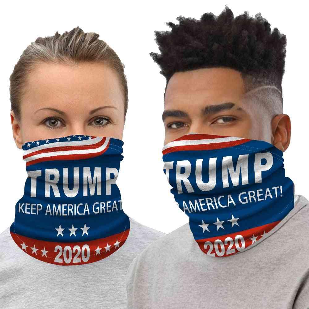 Trump Printed Face Mask, Half Sun Dust Protection Vivid Fashion Scarf 3d Tube Masks