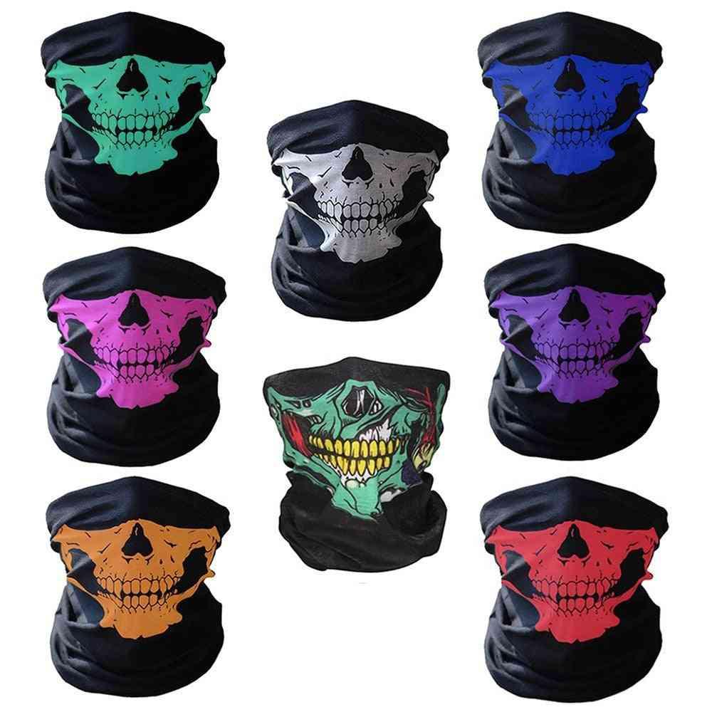 Halloween Ride Bandana Head Scarf Ski Skull Half Face Mask
