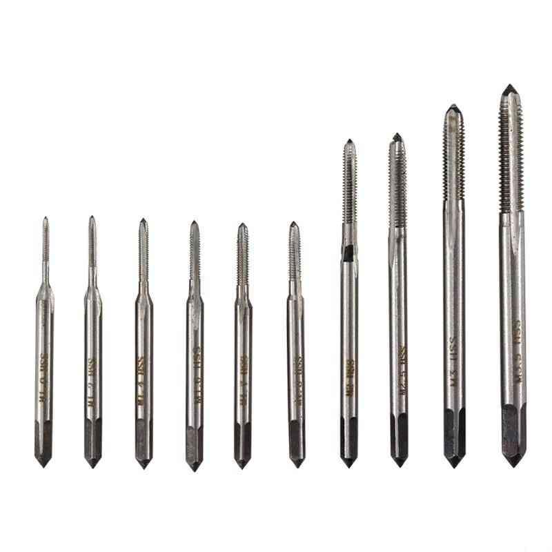 Straight Screw, Hss Mini, Drill Bit Machine- Metric Thread, Tap Set