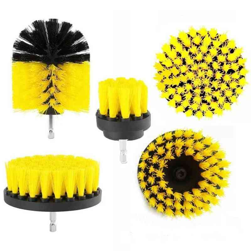 Plastic Round, Cleaning Brush For Carpet Glass, Car Tires, Scrubber Drill