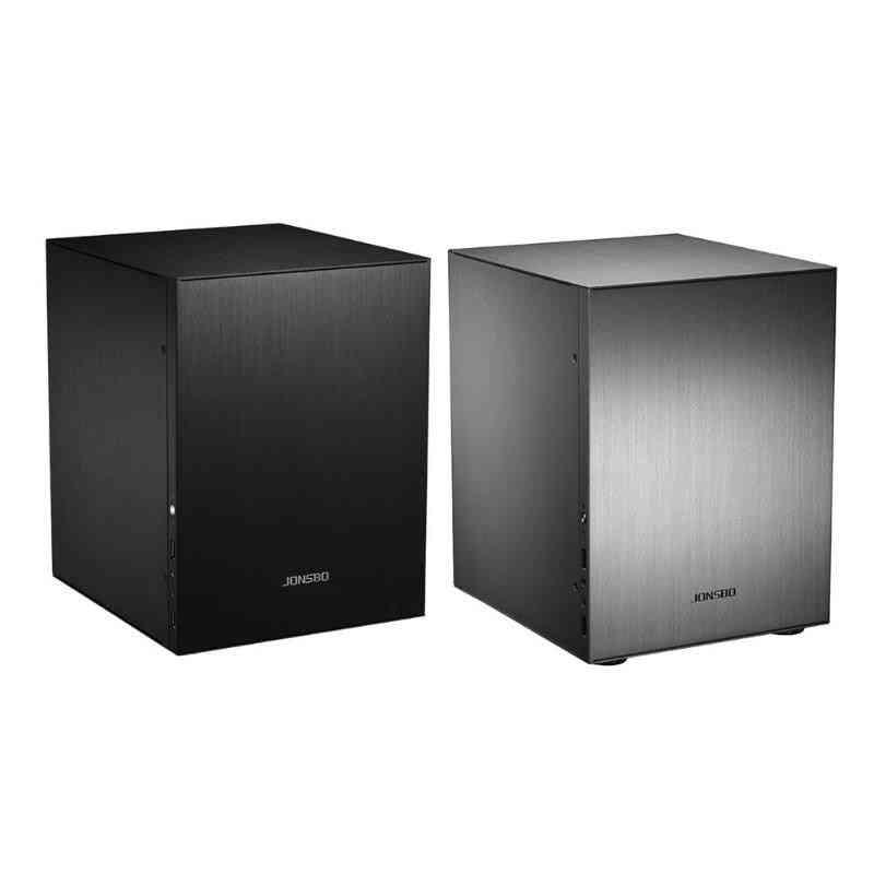 Aluminum Computer Case/desktop Pc Chassis For Mini Itx
