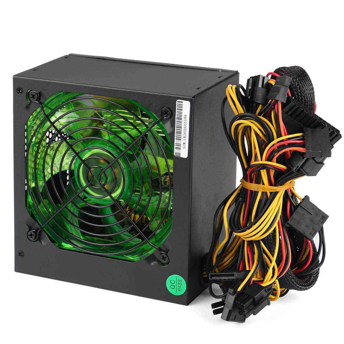 Max 800w Pci Sata 220v Atx 12v Gaming Pc Power Supply 24pin/molex/sata Led Fan