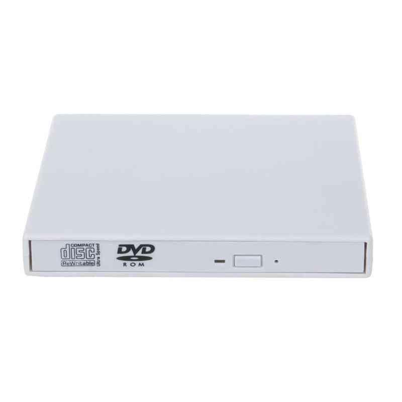 Usb 2.0 Plug & Play External Dvd Drive, Combo Cd-rw Burner Rom