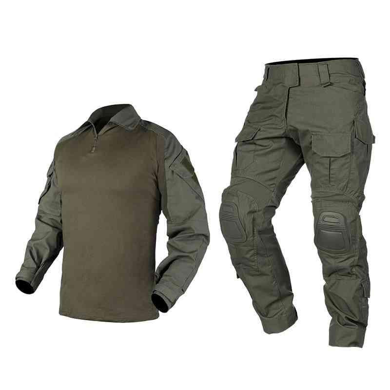 Men Combat Suit Shirt & Pants