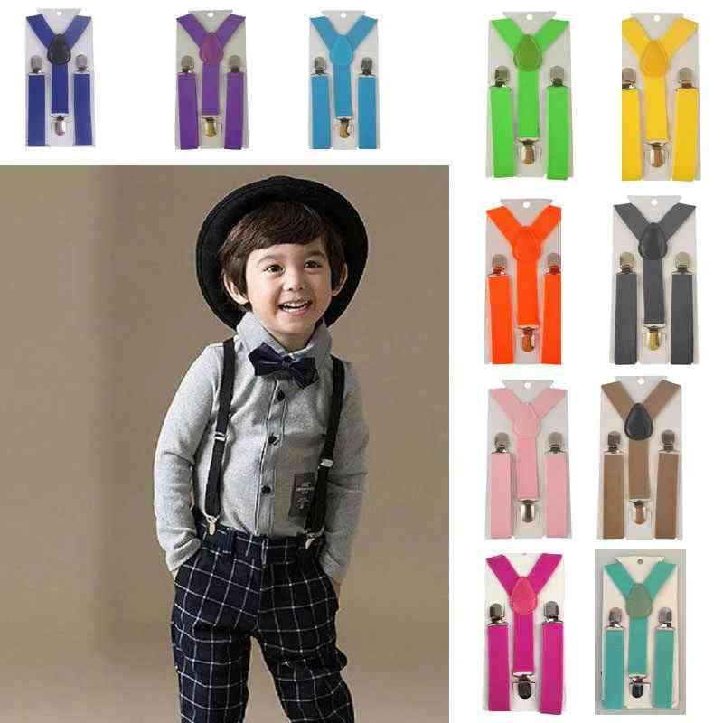 New Belt Clip-on Elastic Braces, Baby Kids Suspenders