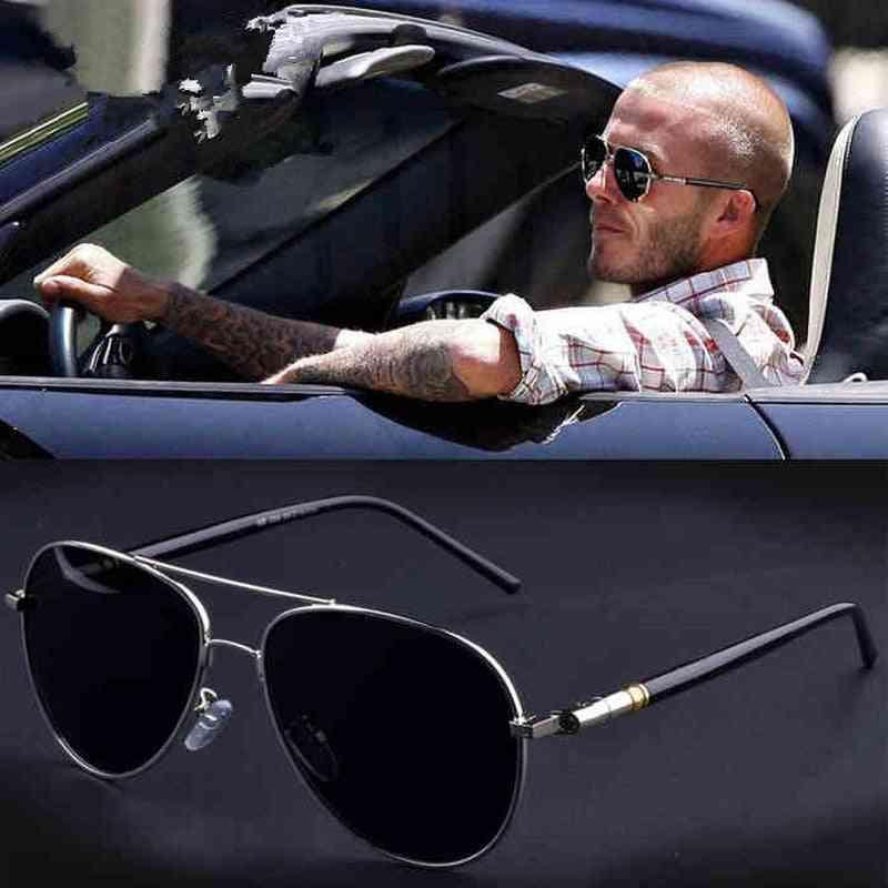Oversized Spring Leg Alloy Men Sunglasses Polarized