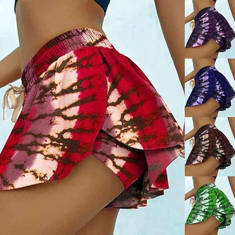 High Waist Pleated Short Dress Skirt