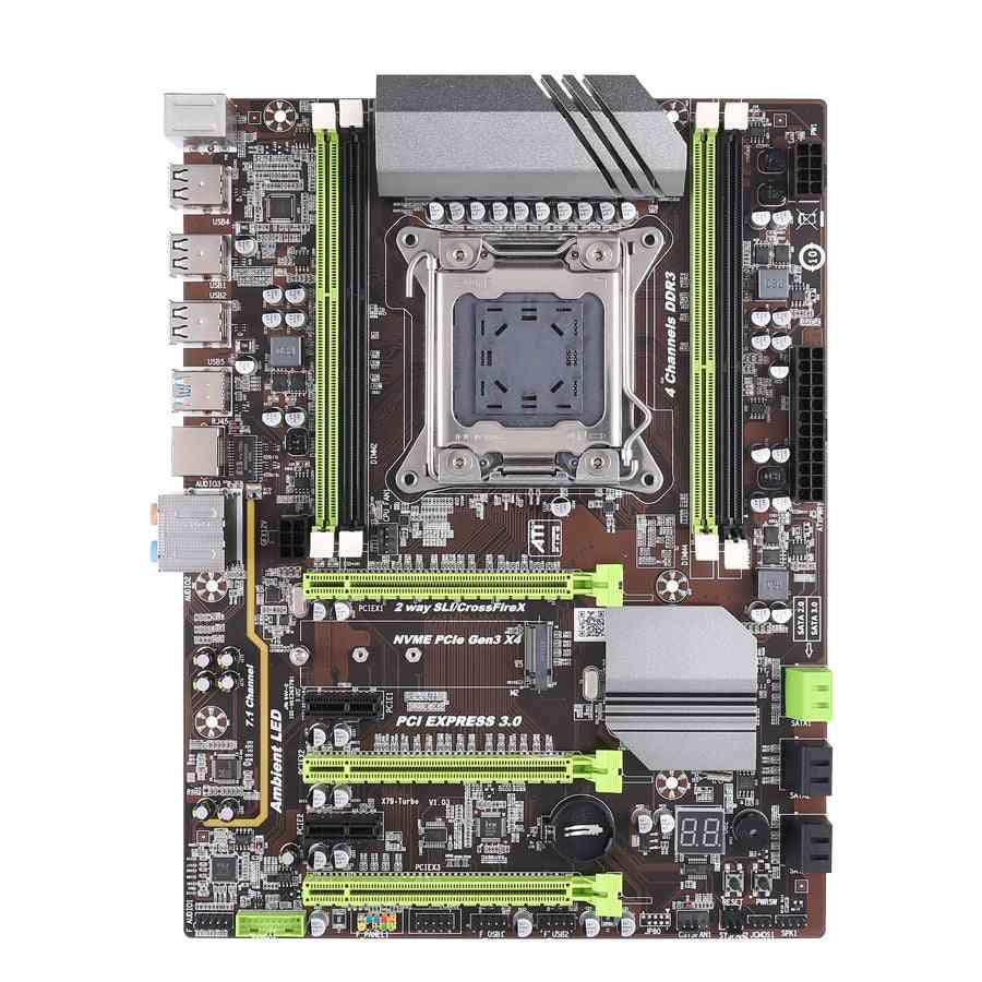 X79 Motherboard Lga2011 Atx Usb3.0 Sata3 Pci-e Nvme M.2 Ssd Support Reg Ecc Memory And Xeon E5 Processor