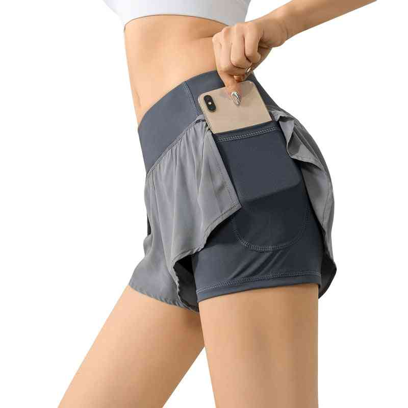 High Waist Biker Women Fitness Anti Exposure Tennis Skirt / Shorts