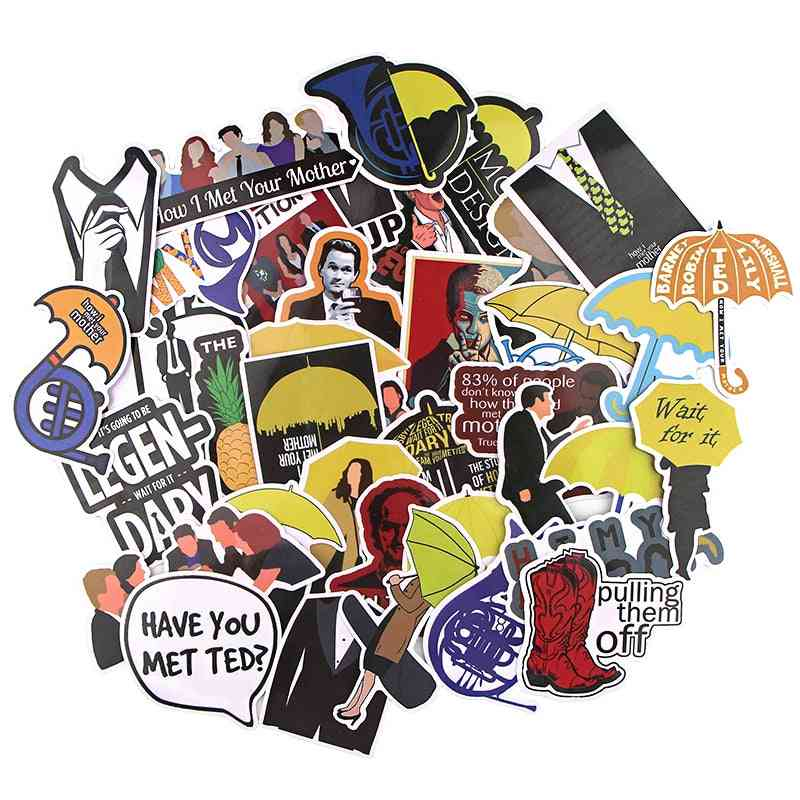Random Style Cute Sticker For Motorcycle, Suitcase Cool Laptop, Skateboard