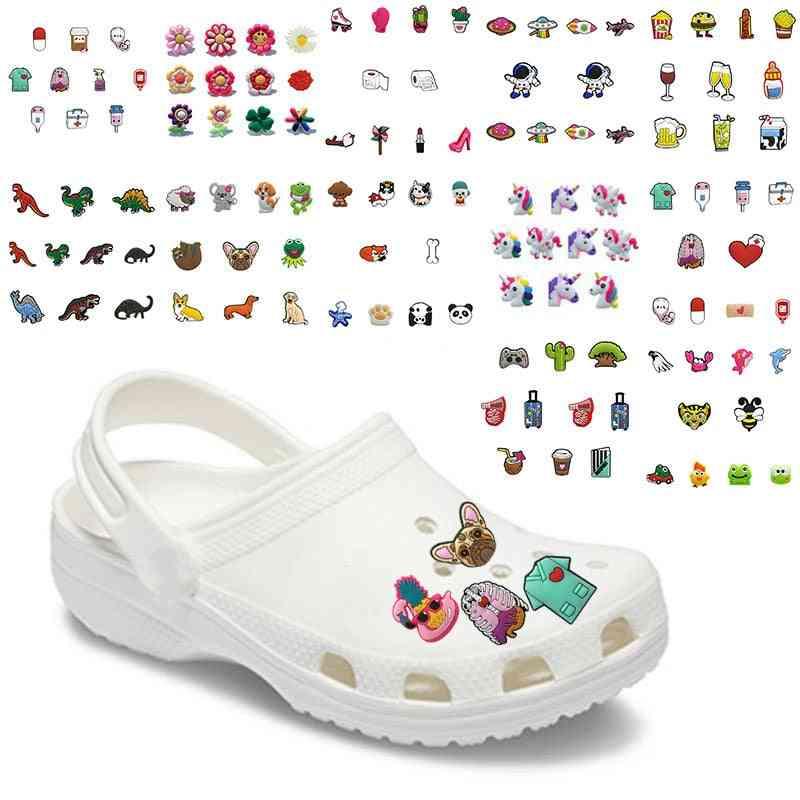 10pcs-cute Medical, Pvc Croc Shoe Charms, Decorations Accessories