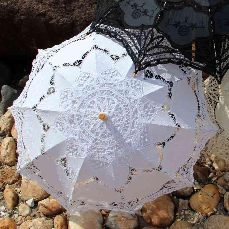 Dancing Magic Props, Lace Umbrella For Party Decoration