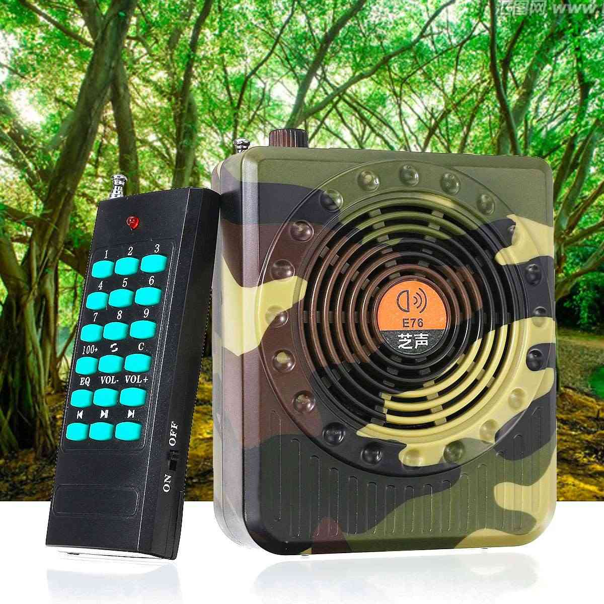 Camouflage Remote Control Bird Caller Speaker For Hunting & Fm Radio Mp3 Player