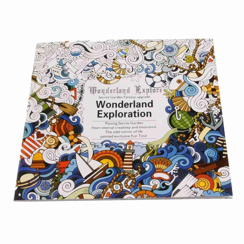 Wonderland Exploration, Coloring Graffiti Book