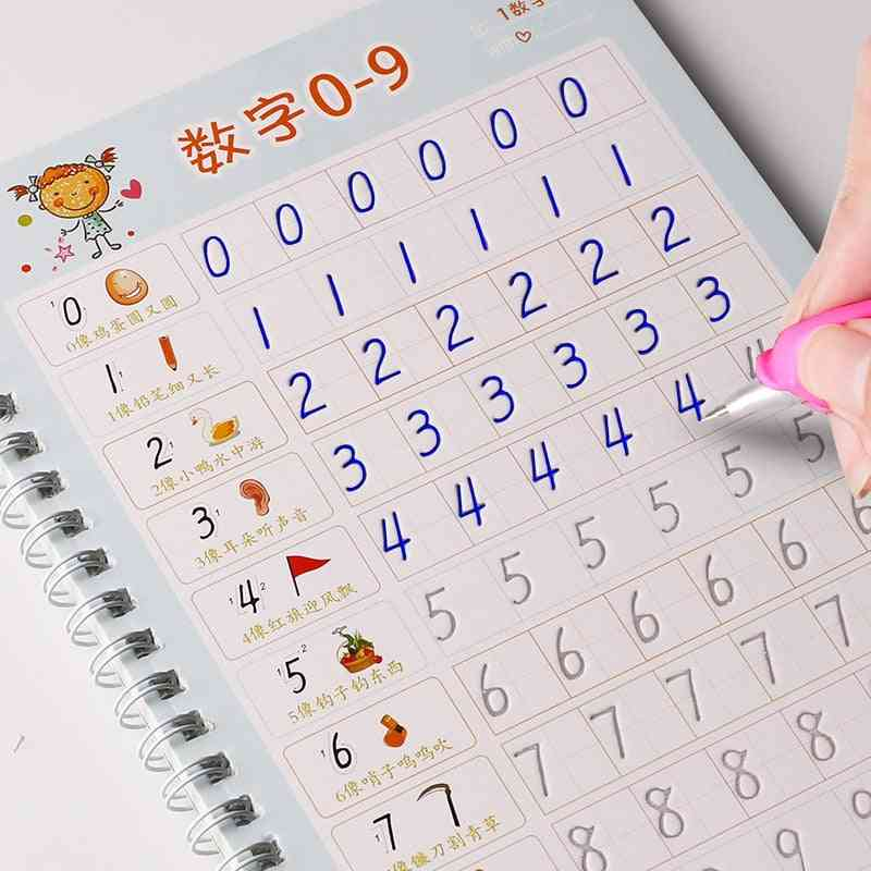1pcs, 0-100 Numbers, Copybook Drawing, Hand Writing, Calligraphy Educational