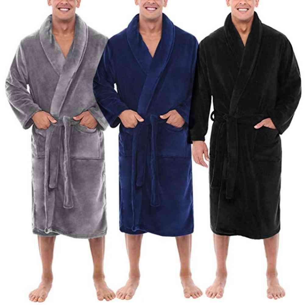 Men Pajamas Bathrobe Shawl