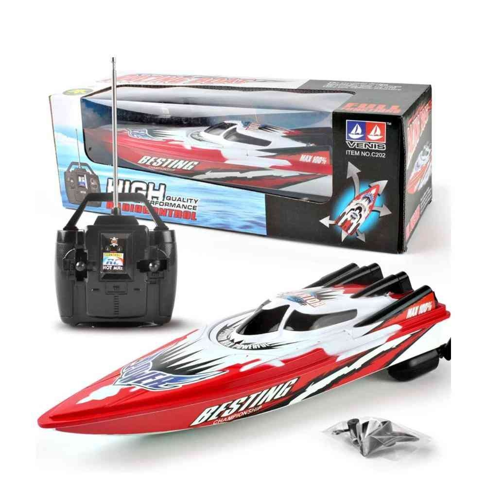 Electric Remote Control, Plastic Boat With Twin Motor For Kid
