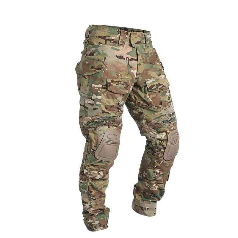Airsoft Tactical Trousers, Combat Pants With Knee Pads