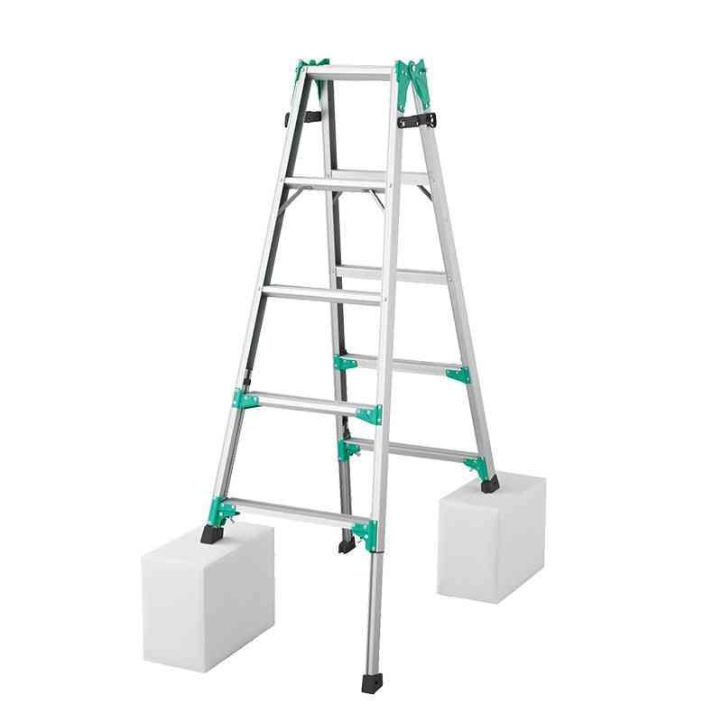 Multifunctional Step Straight, Aluminum Alloy Portable, Foldable Telescopic Ladder