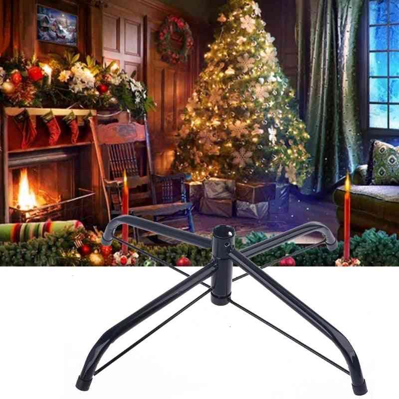 Christmas Tree Base Stand Foldable Iron Bracket Bottom Support Holder Decoration
