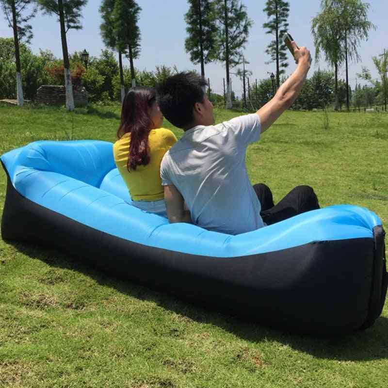 Lazy Pillow, Waterproof Inflatable Sofa, Portable Outdoor, Sleeping Bed