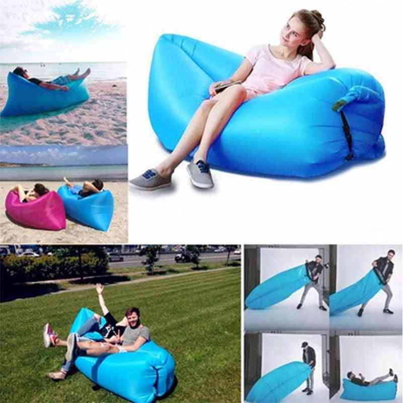 Waterproof Inflatable, Portable Sofa For Outdoor Sleeping Bed & Lounge Chair