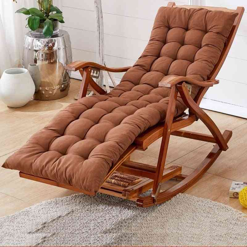 Bamboo Rocking Balcony Recliner Adult Lazy Casual Wood Chair For Home