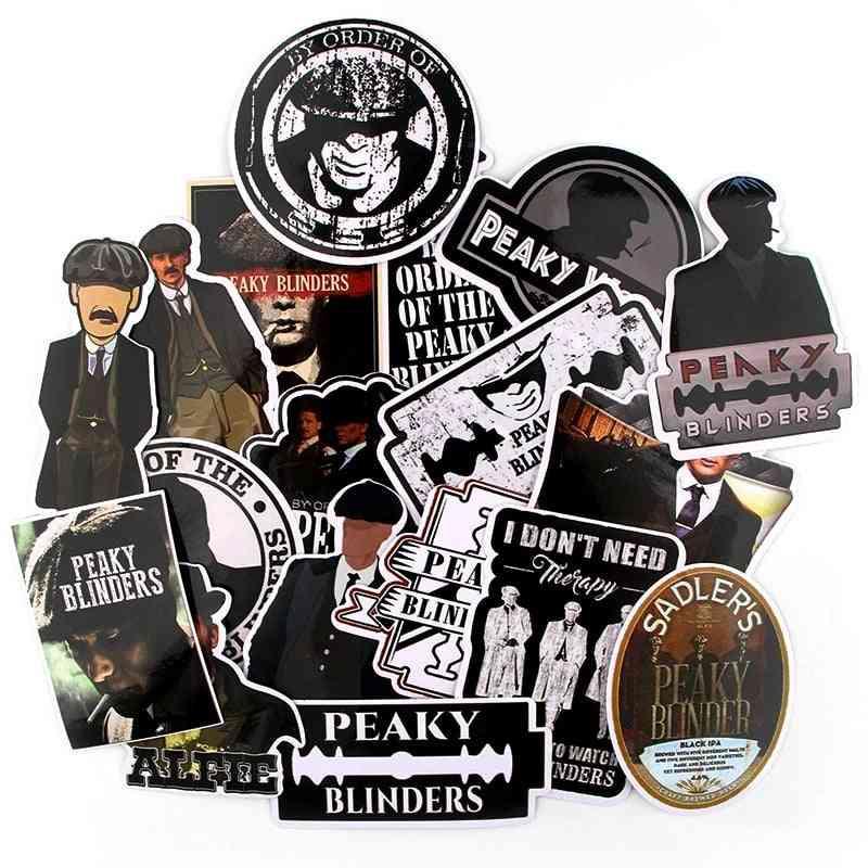 Peaky Blinders, Retro Fun Sticker For Guitar Jdm, Graffiti Applique Decoration