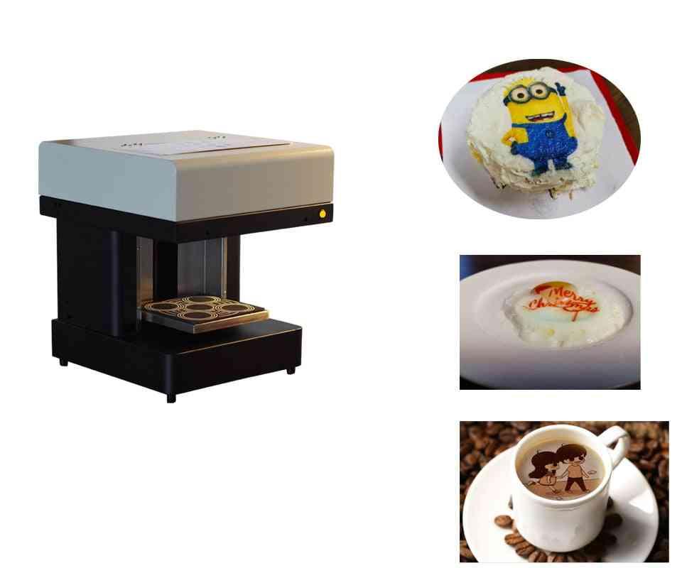 3d Cappuccino Latte, Art Coffee & Small Cake, Food Printer