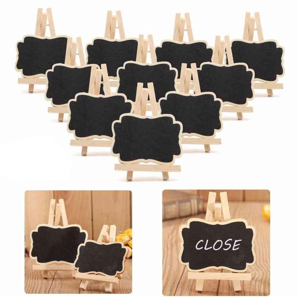 10 Pcs/set Mini Wooden Blackboard
