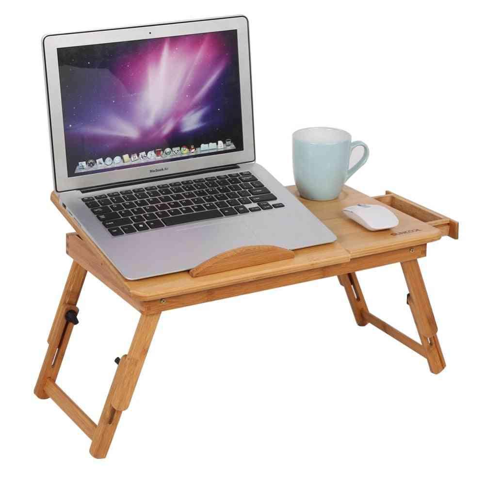 Adjustable Bamboo Desk Shelf Dormitory Laptop Stand