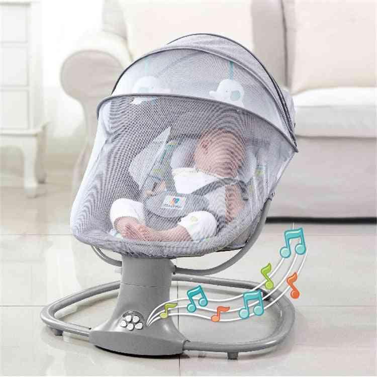 Baby Electric Rocking Chair, Newborns Sleeping Cradle Bed Comfort Reclining