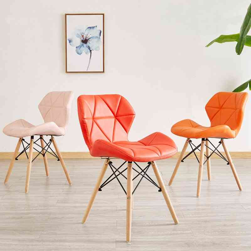 Nordic Furniture, Modern Iron Wood, Kitchen Dining Chairs