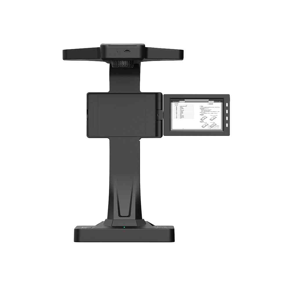 Book & Document Camera Scanner With Laser Curve-fiattening Tech